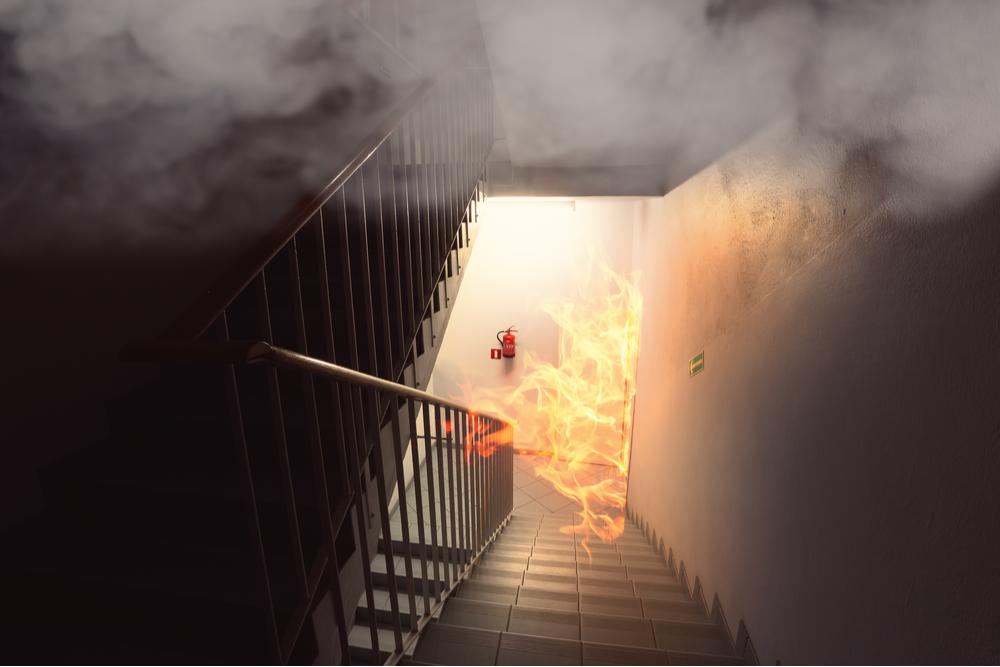 Fire in stairwell